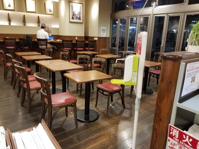 ペルエメルのカフェスペース