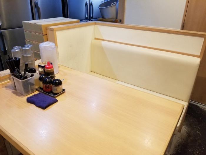 武道家 賢斗のテーブル席